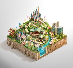 """Disney Vacation Club Sweepstakes (14) // love the isometric """"chunk"""" of earth"""