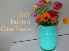 DIY Home Decor DIY Painted Glass Vases