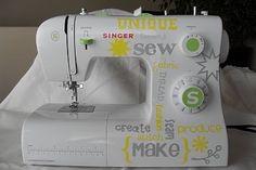 Subway Art Sewing Machine using Vinyl & Your Silhouette #Tutorial
