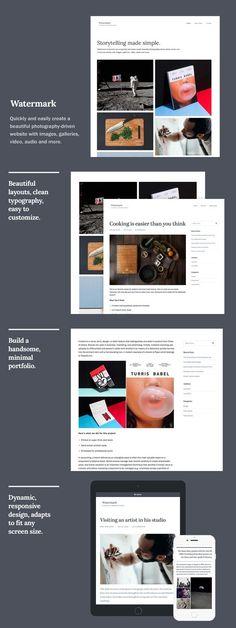 Watermark WordPress Theme. WordPress Photography Themes. $49.00