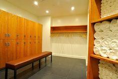 Locker room at Scarsdale Yoga Studios