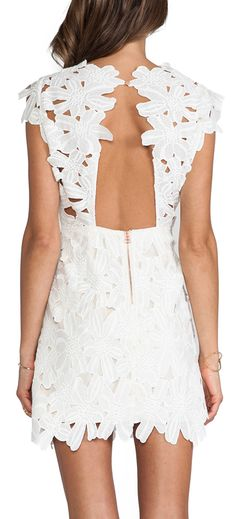 Floral lace dress - pretty for the rehearsal dinner