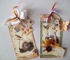 Card: 2 Tag cards - Happy Birthday & Thank You