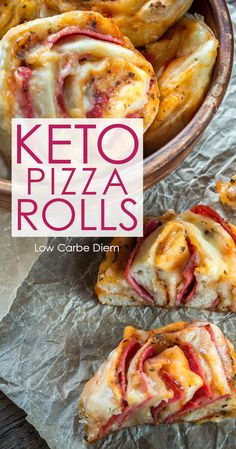 Easy keto pizza rolls: Everything you crave about pizza, in an easy-to-handle roll. Sneak in your daily veggies, grab and go.