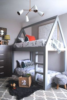 These custom bunkbeds are adorable!