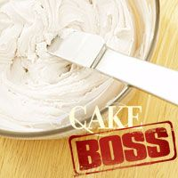 Cake Boss Vanilla Frosting: 2 1/2	cups (5 sticks) unsalted butter, softened at room temperature 5	cups powdered (10x) sugar 1	tablespoon pure vanilla extract 1/4	teaspoon fine sea salt 3	tablespoons lukewarm water