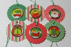 6 Cute Christmas Tags by ThePaperOwl13 on Etsy, $3.50