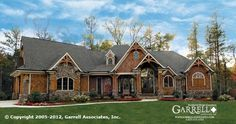 Amicalola Cottage House Plan # 05168, Front Elevation, Mountain Style House Plans, Craftsman Style House Plans