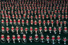 Synchronized hula-hooping in North Korea (Photo: David Guttenfelder / AP)