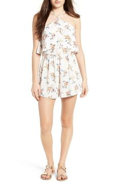 Lush Tie Back High Neck Romper by womens-dresses