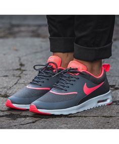 c978e145f54a Nike Air Max Thea Charcoal Grey Anthracite Rose Mens Trainers