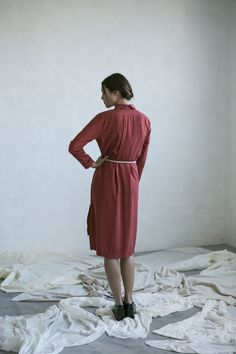 Shirt dress 100% tencel Made in Barcelona