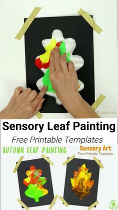 Mess Free Sensory Autumn Leaf Painting - Watch leaves change colour in front of your eyes, explore colour mixing and engage the senses! (Free Leaf Templates) #kidscrtaftroom #sensoryplay #autumncrafts #fallcrafts #kidscrafts #preschoolcrafts Halloween Crafts For Toddlers, Fall Crafts For Kids, Art For Kids, Kids Diy, Autumn Art Ideas For Kids, Kids Paint Crafts, Fall Crafts For Preschoolers, Toddler Halloween Crafts, Fall Art For Toddlers