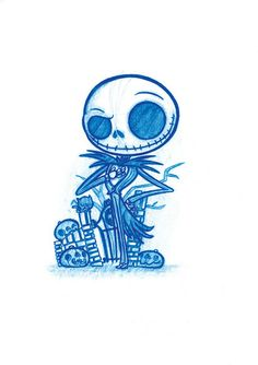 Image of Jack Skellington A5 Print! OR Zombie Gloomy A5 Print! *FREE SHIPPING!*
