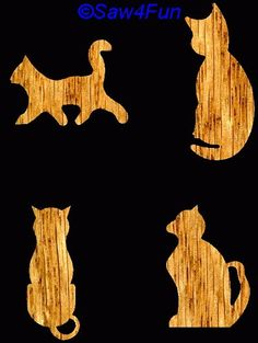 Cat Fridge Magnet Scroll Saw Pattern