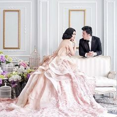loving this picture so much, happy for you Vera & Chandra.   on her: transparent rosegold floral ballgown |  #photo by: @normantj | @morenophotography | #makeup by: @rainmakeup | #stylist : @the_widira_s | #provocatebymeltatan #design #dress #gown #floral #rosegold #ballgown #fairytale #style #fashion #bridebook #preweddinginspiration #pastel