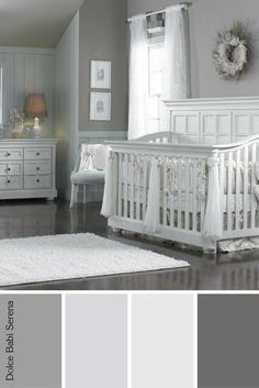 Dolce Babi Serena furniture provides a chic look for this calm nursery. Neutral tones keep it feeling vintage. Perfect for a baby girl or boy! White Nursery Furniture, Nursery Furniture Sets, Deck Furniture, Furniture Ideas, Grey Nursery Boy, Baby Girl Nursery Themes, Nursery Crib, Nursery Sets, Baby Room Neutral