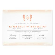 Seaside Monogram Wedding Invitation Dealslowest price Fast Shipping and save your money Now!!...