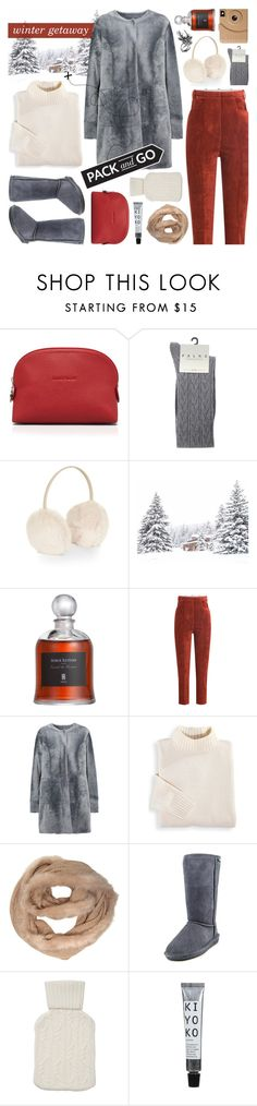 """""""pack and go: winter getaway"""" by jesuisunlapin ❤ liked on Polyvore featuring Longchamp, Falke, Accessorize, Golden Goose, Drome, Blair, Dorothy Perkins, Bearpaw, Poketo and Pure Collection"""