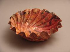 Alice... sleeping flower.. - a raised copper vessel by Gene Olson
