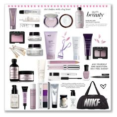 """Gym beauty contest"" by martha-qn18 ❤ liked on Polyvore featuring beauty, Bobbi Brown Cosmetics, NIKE, Alterna, Fresh, NARS Cosmetics, Sephora Collection, Davines, Julep and By Terry"