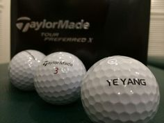 """March 26, 2014: """"Tour Preferred X balls for Korean Professional Y. E. Yang!!,"""" said TaylorMade Asia of these new spheres for the former PGA Championship winner."""