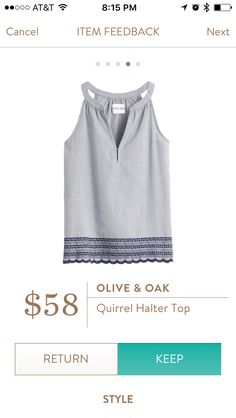 Olive & Oak Quirrel halter top from Stitch Fix