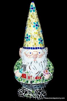Mosaic garden gnome