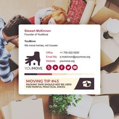 YouMove are really putting their creativity on display with their signature design and providing us with those handy moving tips 😉💌  #emailsignature #movinghouse #design #marketing #inspiration