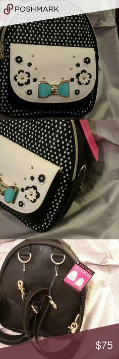 Betsey johnson backpack convertible spot NWT 11x10x5. Fashion size  (Ea) dhn 1 Betsey Johnson Bags Backpacks