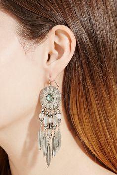 Feather Drop Earrings 7e