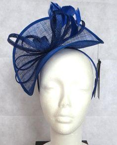 *BNWT* M&S Royal Blue Fascinator / Hat / Head Piece RRP £25 Electric Cobalt