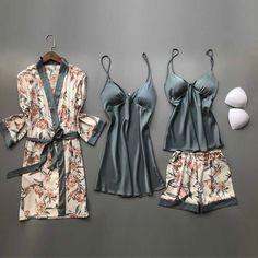 Satin Sleepwear, Sleepwear Sets, Satin Pajamas, Sleepwear Women, Nightwear, Womens Silk Pajamas, Sexy Pajamas, Pyjamas, Satin Nightie