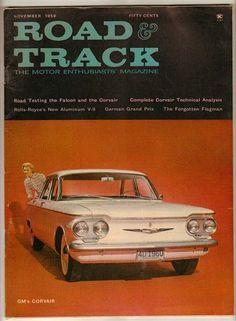 Road & Track Nov 1959 Old Vintage Car Magazine Corvair Faclon Rolls-Royce Racing