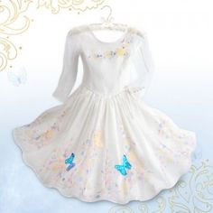The Cinderella Deluxe Wedding Costume is inspired by the wedding gown as seen in Disney's live-action Cinderella movie.