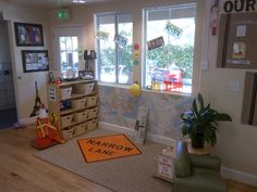 This is one of the Bright Ideas shared from a Bright Horizons early education and preschool program. Turn blocks into a classroom construction zone with a few simple touches.