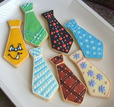 Neck Tie cookies for Father's Day