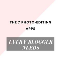 How your favorite fashion bloggers edit their photos #bloggingtips