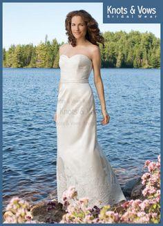 Floor Length Sheath Column Sweetheart White Taffeta Embroidery Product Code : KVBGW0515  #indianweddinggowns #mumbaibridalgowns #knotsandvowsindia #knotsandvowsbridalwear