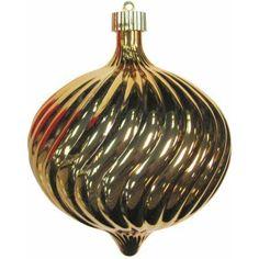 Gilded Gold 150mm Shatterproof Swirled Onion Christmas Ornament