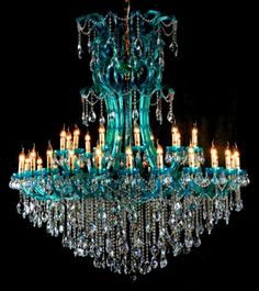 Blue Chandelier ...Wow !!