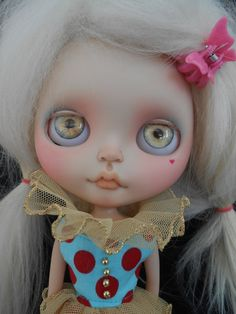 Ooak Custom RBL Blythe Doll Faceplates por Spookykidsworkshop