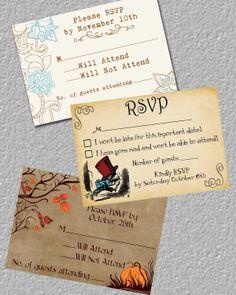 RSVP Card Insert Card Invitation Insert by TheRedStarDesigns, $12.00