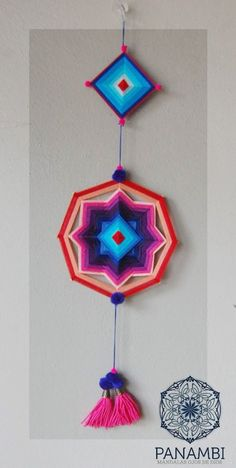 Mandala Art, Wall Hanging Crafts, Diy Wall Decor, Dreams Catcher, God's Eye Craft, Gods Eye, Idee Diy, Dyi Crafts, Dream Catchers