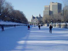 Canal Rideau, pista de hielo más larga del mundo en Ottawa