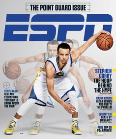 """ESPN is jumping on the Warriors' bandwagon, planning to debut two special features on the NBA's best team this week. The first is """"Face to Face with Hannah Storm: Golden State Warriors,"""" which will… Stephen Curry 30, Warriors Stephen Curry, Curry Warriors, Sports Magazine Covers, Mexico 86, Espn Baseball, Baseball Live, Basketball, Sport"""