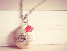 Medallon bicicleta, Bisutería, Collares, Bisutería, Colgantes, Complementos, Collares