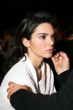 kendallnjennerfashionstyle: October 20, 2015 - Backstage at BALMAIN X H&M Collection Launch.