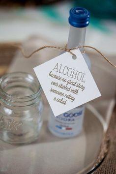 Mini botella de alcohol