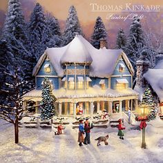 Shop great selection of rare Thomas Kinkade gifts and collectibles at The Bradford Exchange. We have Exclusive collection of art of Thomas Kinkade featuring on Limited Edition collectibles, Paintings, Home Decor and more. Christmas Scenes, Christmas Villages, Christmas Art, Vintage Christmas, Xmas, White Christmas, Christmas Mantles, Christmas Settings, Victorian Christmas